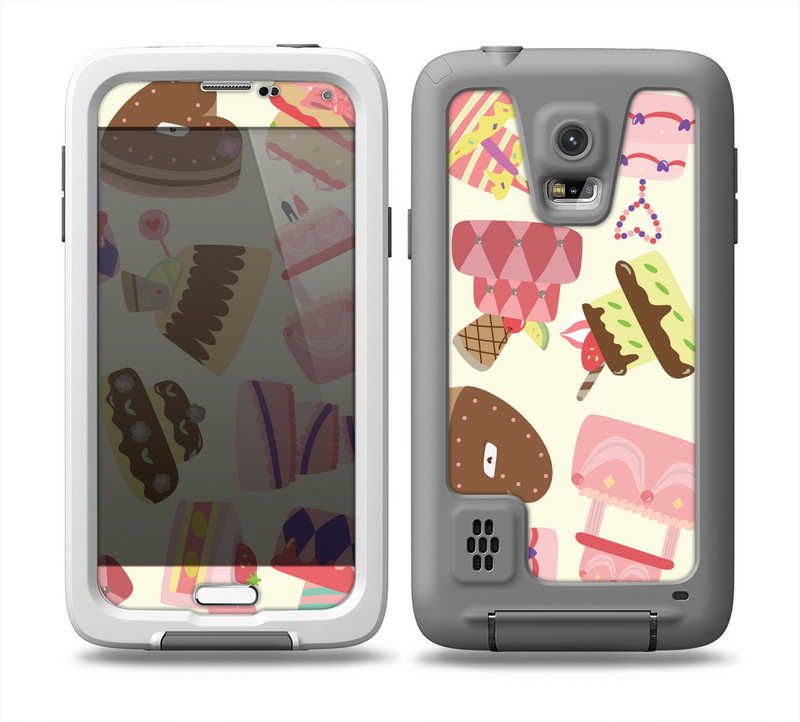 The Cakes and Sweets Pattern Skin for the Samsung Galaxy S5 frē LifeProof Case