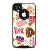 The Cakes and Sweets Pattern Skin for the iPhone 4-4s OtterBox Commuter Case