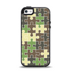 The Camouflage Colored Puzzle Pattern Apple iPhone 5-5s Otterbox Symmetry Case Skin Set