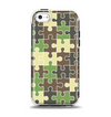 The Camouflage Colored Puzzle Pattern Apple iPhone 5c Otterbox Symmetry Case Skin Set