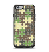 The Camouflage Colored Puzzle Pattern Apple iPhone 6 Otterbox Symmetry Case Skin Set