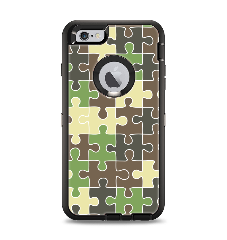 The Camouflage Colored Puzzle Pattern Apple iPhone 6 Plus Otterbox Defender  Case Skin Set a00588168705