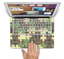 "The Camouflage Colored Puzzle Pattern Skin Set for the Apple MacBook Pro 15"" with Retina Display"