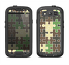 The Camouflage Colored Puzzle Pattern Samsung Galaxy S3 LifeProof Fre Case Skin Set