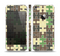 The Camouflage Colored Puzzle Pattern Skin Set for the Apple iPhone 5