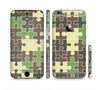 The Camouflage Colored Puzzle Pattern Sectioned Skin Series for the Apple iPhone 6