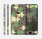 The Camouflage Colored Puzzle Pattern Skin for the Apple iPhone 6