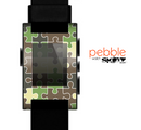 The Camouflage Colored Puzzle Pattern Skin for the Pebble SmartWatch