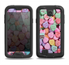 The Candy Worded Hearts Samsung Galaxy S4 LifeProof Fre Case Skin Set