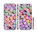 The Candy Worded Hearts Sectioned Skin Series for the Apple iPhone 6s
