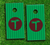 The Add-Your-Own-Image Skin-set for a pair of Cornhole Boards