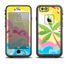 The Cartoon Bright Palm Tree Beach Apple iPhone 6/6s LifeProof Fre Case Skin Set
