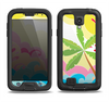 The Cartoon Bright Palm Tree Beach Samsung Galaxy S4 LifeProof Fre Case Skin Set