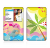 The Cartoon Bright Palm Tree Beach Skin For The Apple iPod Classic