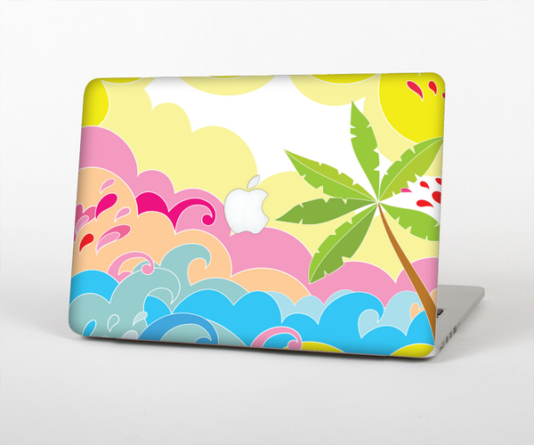 The Cartoon Bright Palm Tree Beach Skin for the Apple MacBook Pro Retina 15""