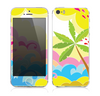 The Cartoon Bright Palm Tree Beach Skin for the Apple iPhone 5s