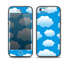 The Cartoon Cloudy Sky Skin Set for the iPhone 5-5s Skech Glow Case
