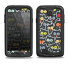 The Cartoon Color-Eyed Black Owls Samsung Galaxy S4 LifeProof Fre Case Skin Set