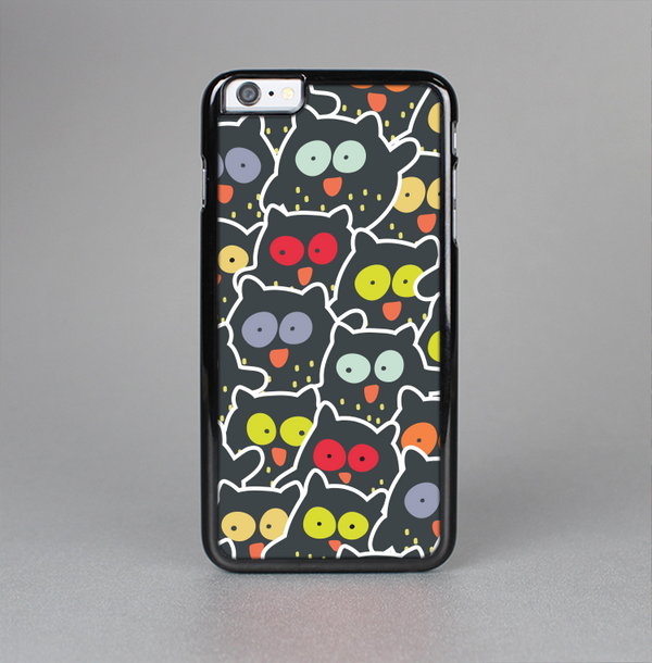 The Cartoon Color-Eyed Black Owls Skin-Sert Case for the Apple iPhone 6 Plus