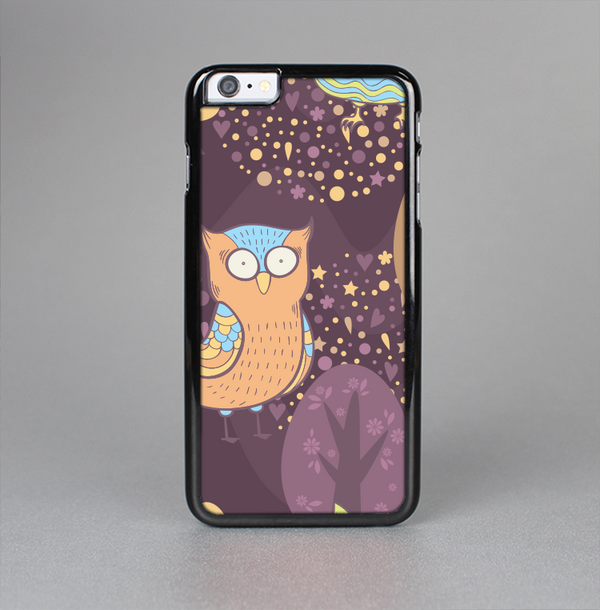The Cartoon Curious Owls Skin-Sert Case for the Apple iPhone 6 Plus