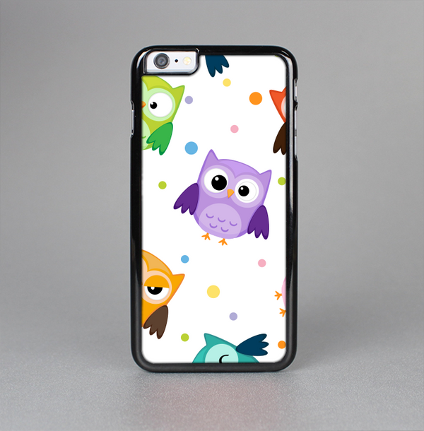 The Cartoon Emotional Owls with Polkadots Skin-Sert Case for the Apple iPhone 6 Plus