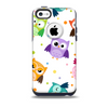 The Cartoon Emotional Owls with Polkadots Skin for the iPhone 5c OtterBox Commuter Case