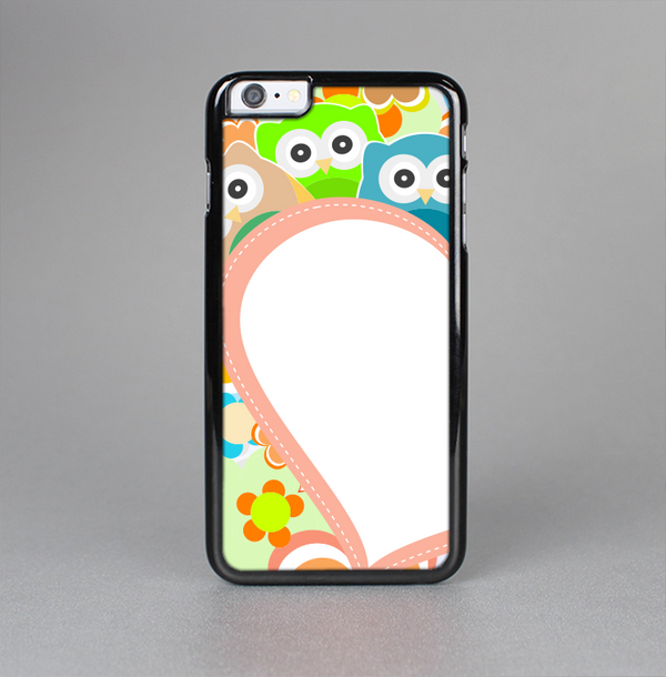 The Cartoon Owls with Big Heart Skin-Sert Case for the Apple iPhone 6 Plus