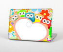 "The Cartoon Owls with Big Heart Skin Set for the Apple MacBook Pro 15"" with Retina Display"