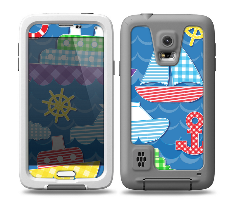 The Cartoon Ships and Submarines Skin for the Samsung Galaxy S5 frē LifeProof Case