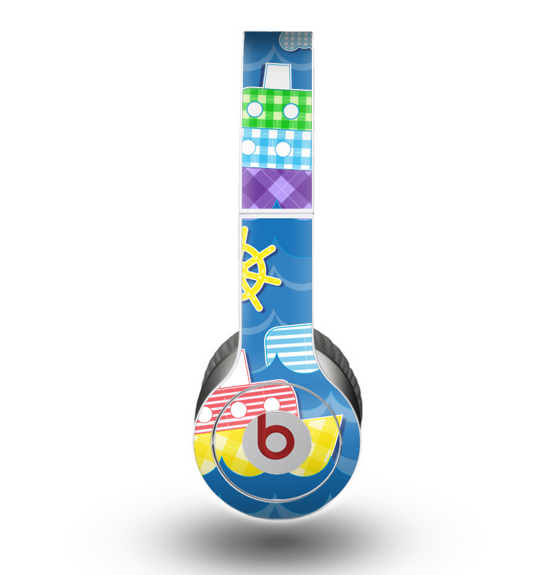 The Cartoon Ships and Submarines Skin for the Beats by Dre Original Solo-Solo HD Headphones