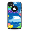 The Cartoon Ships and Submarines Skin for the iPhone 4-4s OtterBox Commuter Case