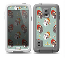 The Cartoon Snowy Colored Owls Skin for the Samsung Galaxy S5 frē LifeProof Case