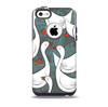 The Cartoon White Geese Skin for the iPhone 5c OtterBox Commuter Case