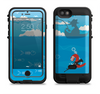 The Cartoon Worm with Machine Gun Irony Apple iPhone 6/6s LifeProof Fre POWER Case Skin Set