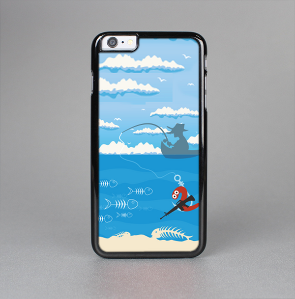 The Cartoon Worm with Machine Gun Irony Skin-Sert Case for the Apple iPhone 6 Plus