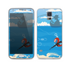The Cartoon Worm with Machine Gun Irony Skin For the Samsung Galaxy S5