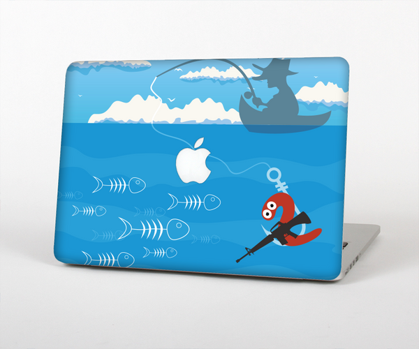 The Cartoon Worm with Machine Gun Irony Skin for the Apple MacBook Pro Retina 15""