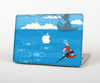 The Cartoon Worm with Machine Gun Irony Skin for the Apple MacBook Pro 15""