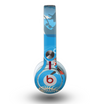 The Cartoon Worm with Machine Gun Irony Skin for the Beats by Dre Mixr Headphones