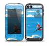 The Cartoon Worm with Machine Gun Irony Skin for the iPod Touch 5th Generation frē LifeProof Case