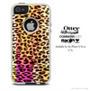 The Cheetah Print Abstract V3 Skin For The iPhone 4-4s or 5-5s Otterbox Commuter Case