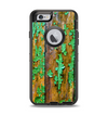 The Chipped Bright Green Wood Apple iPhone 6 Otterbox Defender Case Skin Set