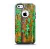 The Chipped Bright Green Wood Skin for the iPhone 5c OtterBox Commuter Case