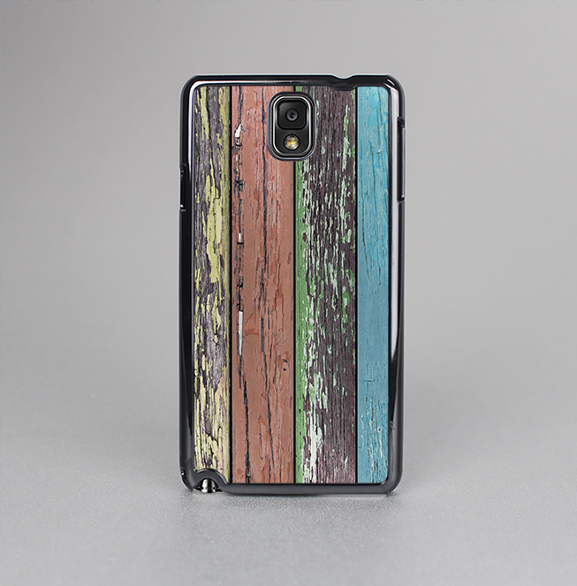 The Chipped Pastel Paint on Wood Skin-Sert Case for the Samsung Galaxy Note 3