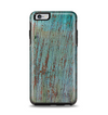 The Chipped Teal Paint on Aged Wood Apple iPhone 6 Plus Otterbox Symmetry Case Skin Set
