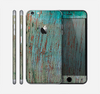 The Chipped Teal Paint on Aged Wood Skin for the Apple iPhone 6 Plus