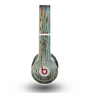 The Chipped Teal Paint on Aged Wood Skin for the Beats by Dre Original Solo-Solo HD Headphones