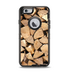 The Chopped Wood Logs Apple iPhone 6 Otterbox Defender Case Skin Set