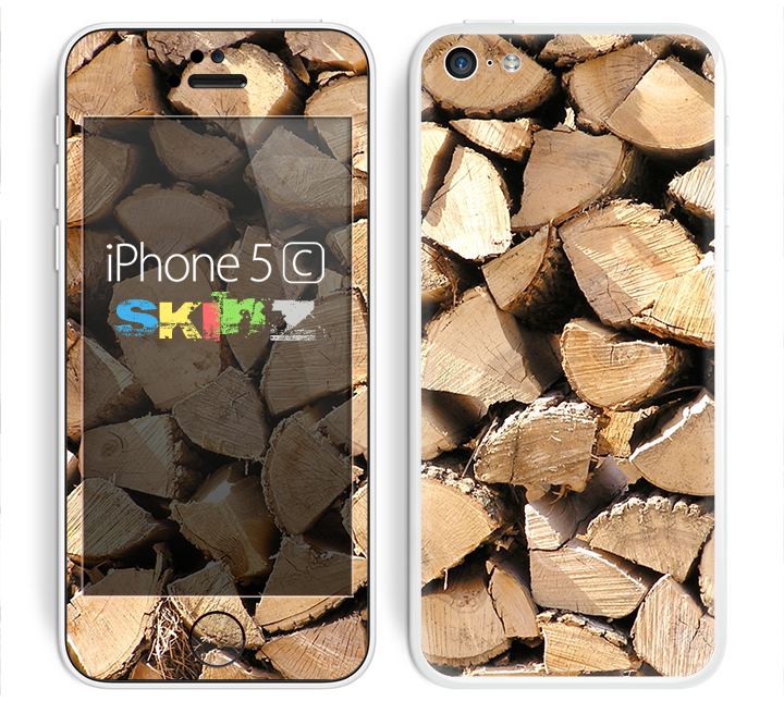 The Chopped Wood Logs Skin for the Apple iPhone 5c