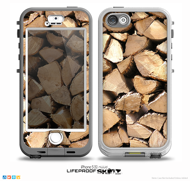 The Chopped Wood Logs Skin for the iPhone 5-5s NUUD LifeProof Case for the LifeProof Skin